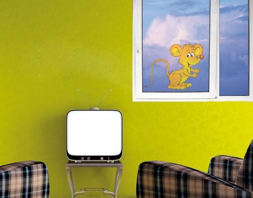 Produktfoto Fensterfolie - Fenstersticker No.8 freche Maus - Fensterbilder
