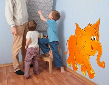 Produktfoto Wall Decal no.11 Laughing Elephant