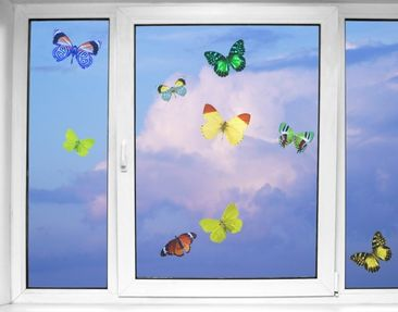 Produktfoto Window Sticker no.32 butterflies set1