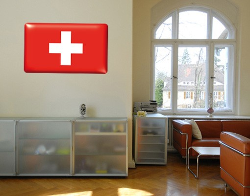 Produktfoto Selbstklebendes Wandbild Flag of Switzerland