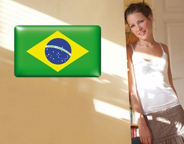 Product picture Wall Mural Flag of Brazil