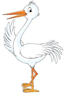 Product picture Wall Decal no.59 Happy Stork