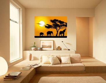 Produktfoto Wall Mural African Elefant Walk