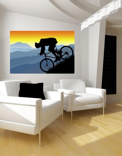 Produktfoto Selbstklebendes Wandbild Downhill
