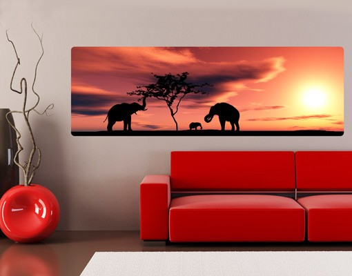 Produktfoto Selbstklebendes Wandbild African Elefant Family