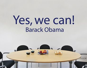 Produktfoto Wall Decal no.SF362 Yes, we can!