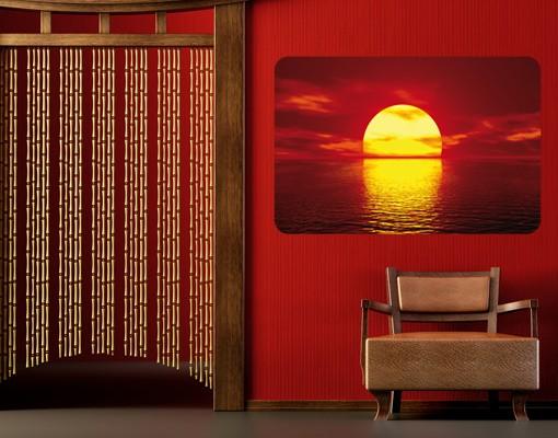 Produktfoto Selbstklebendes Wandbild Fantastic Sunset