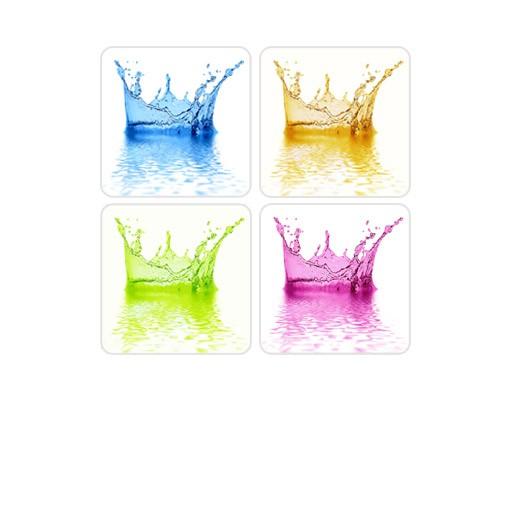 Produktfoto Selbstklebendes Wandbild Four Water Splash Quattro