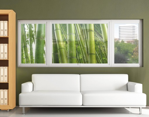 Decorazione per finestre bamboo trees no 2 for Decorazione finestre