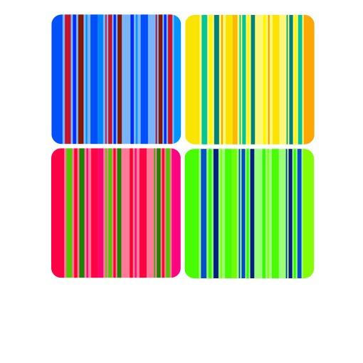 Produktfoto Selbstklebendes Wandbild Neon Stripes