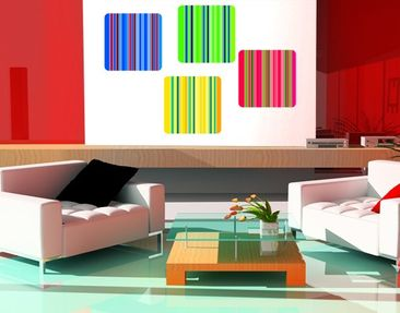Product picture Wall Mural Neon Stripes