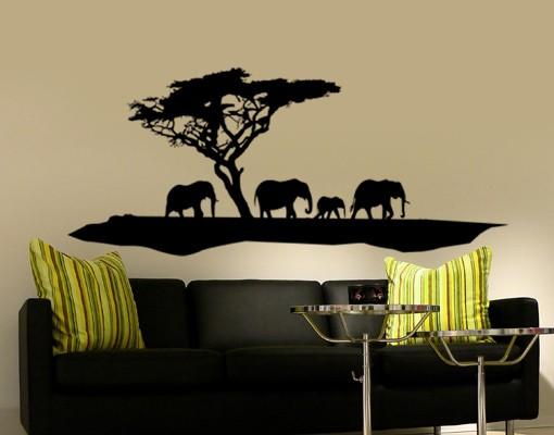 Produktfoto Wandtattoo Elefant No.TM6 Elefanten Spaziergang