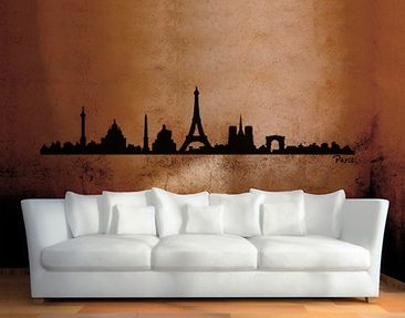 Produktfoto Wandtattoo Skyline No.SF472 Paris Skyline