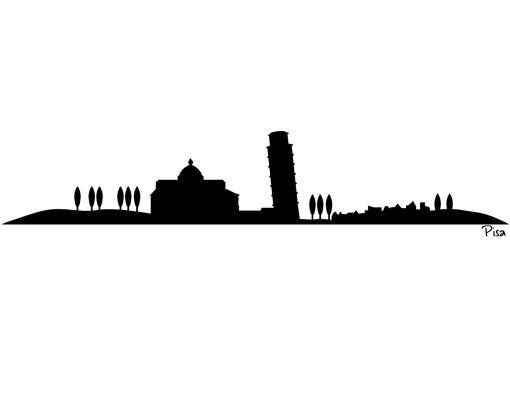 Produktfoto Wandtattoo Skyline No.SF473 Pisa Skyline