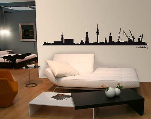 Produktfoto Wandtattoo Skyline No.SF475 Hamburg Skyline