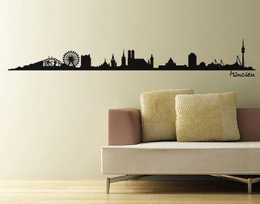Produktfoto Stadt München Wandtattoo Skyline -...