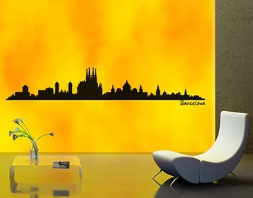 Product picture Wall Decal no.SF482 Barcelona Skyline
