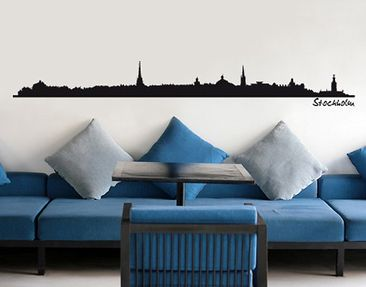 Product picture Wall Decal no.SF484 Stockholm Skyline