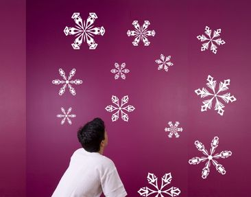 Product picture Wall Decal no.KP20 Iceflowers