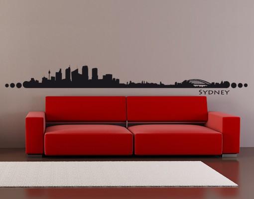 Produktfoto Stadt Sydney - Wandtattoo Skyline -...
