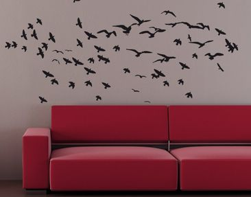 Produktfoto Wall Decal no.KP21 swarm of birds I