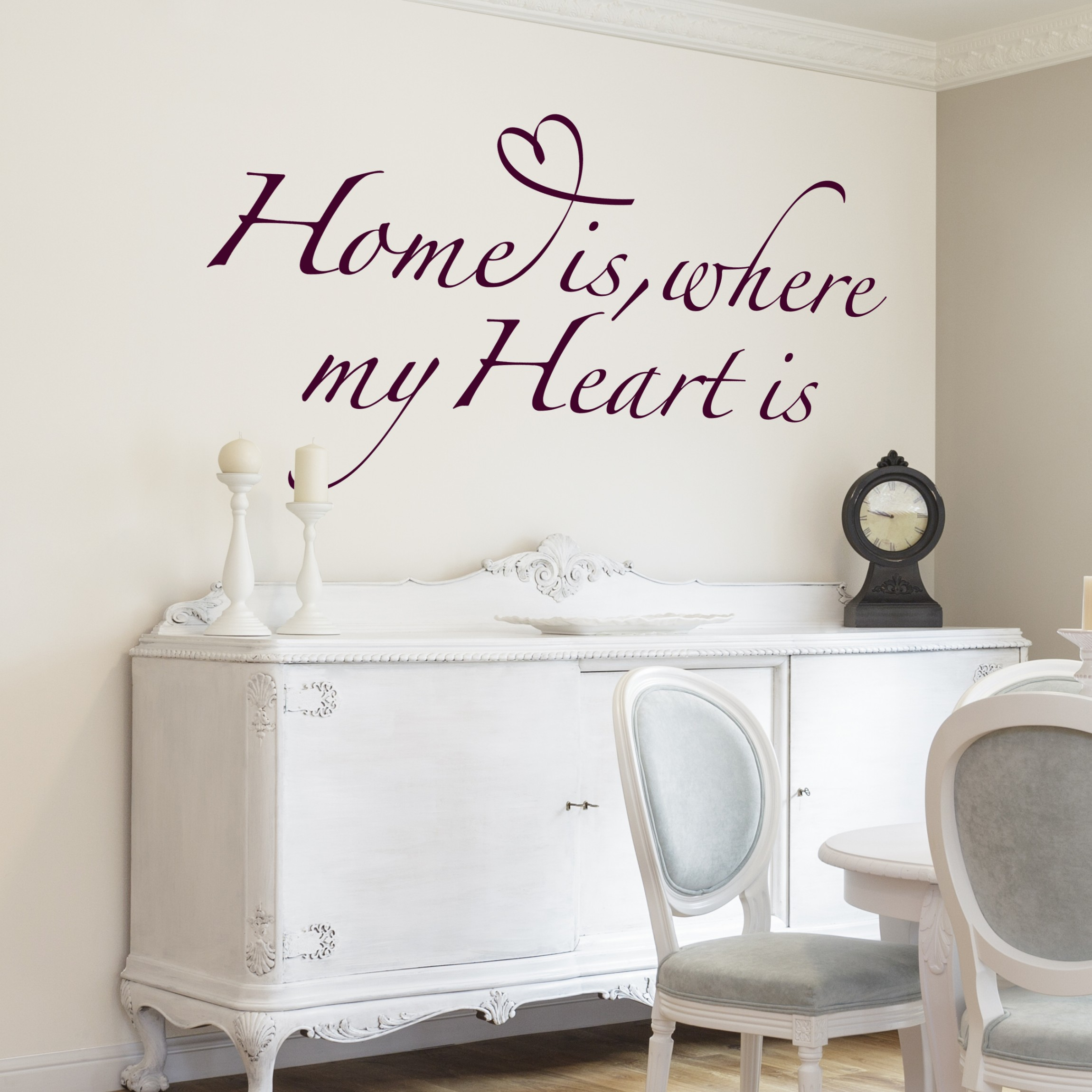 Wandtattoo spr che wandspr che no br255 home is where my heart is - Wandtattoo spruche ...