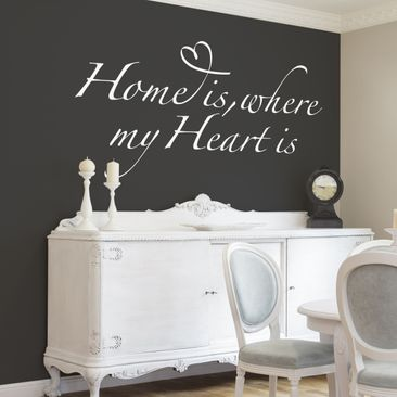 Product picture Wall Decal no.BR255 home is where my...