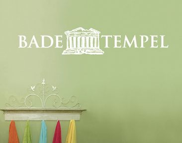 Produktfoto Wall Decal no.SF532 Badetempel