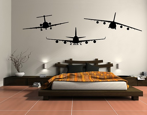 Produktfoto Wandtattoo No.SF528 BFA Aircraft Set