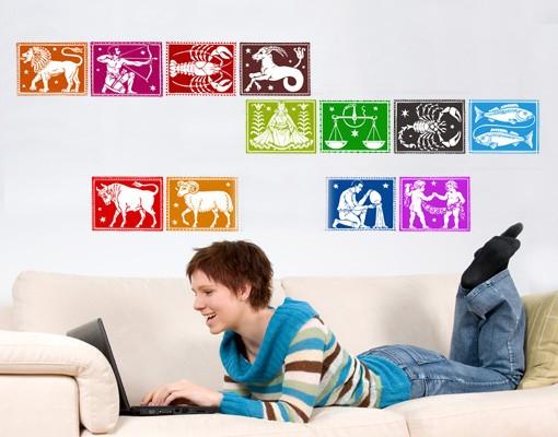 Produktfoto Selbstklebendes Wandbild Sternzeichen I