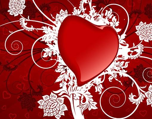 Produktfoto Selbstklebendes Wandbild Herzen