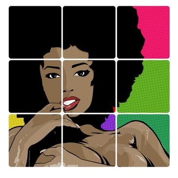 Product picture Wall Mural Black Beauty 9-parts