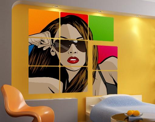 Produktfoto Selbstklebendes Wandbild Hot Lara 9-teilig