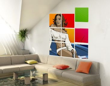 Product picture Wall Mural Lady Alexa 9-parts