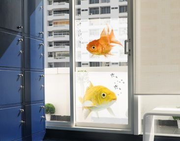 Produktfoto Fensterfolie - Sichtschutz Fenster Colourful Fishes Duo - Fensterbilder