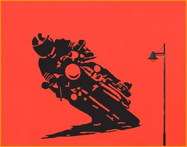 Product picture Wall Decal no.UL286 Motorcyclist