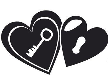 Product picture Wall Decal no.KP112 The Key To Heart 1