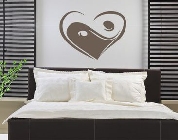 Product picture Wall Decal no.KP135 yin love yan
