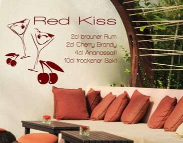 Produktfoto Wall Decal no.KP140 red kiss