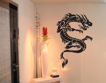 Produktfoto Wandtattoo No.TM34 Tribal Drachen 3