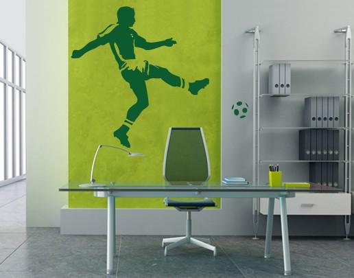 wandtattoo fu ball kinderzimmer no ul295 torschuss. Black Bedroom Furniture Sets. Home Design Ideas