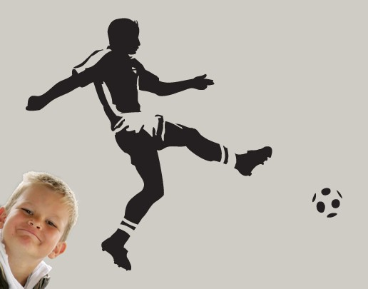 Produktfoto Wandtattoo Fußball - Kinderzimmer No.UL295 Torschuss
