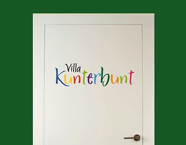 Product picture Wall Decal no.SF541 Villa Kunterbunt