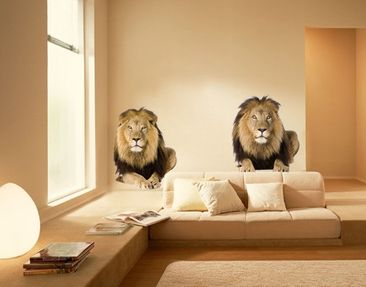 Produktfoto Wall Decal no.165 Two Lions