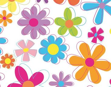 Product picture Wall Decal no.172 Retro Flowers