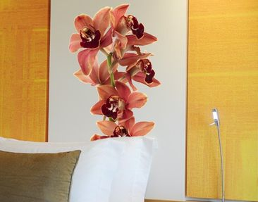 Product picture Wall Decal no.180 Orchid White Red II