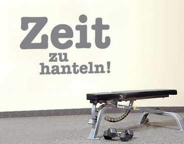 Product picture Wall Decal no.SF627 Zeit zu hanteln 1