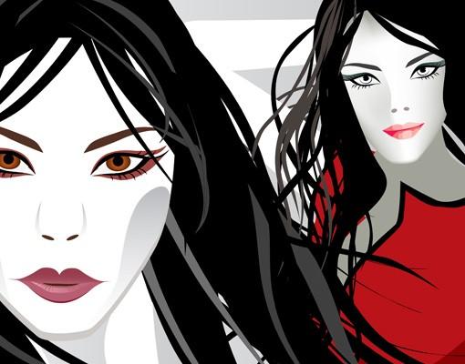 Produktfoto Selbstklebendes Wandbild Asian Girls 1
