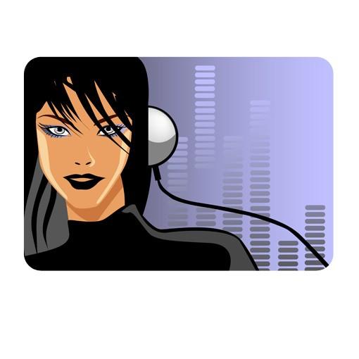 Produktfoto Selbstklebendes Wandbild DJane Spicy