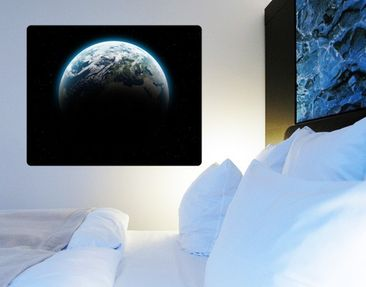 Product picture Wall Mural Illuminated Planet Earth